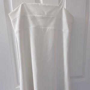 Strappy Back White Mini Dress